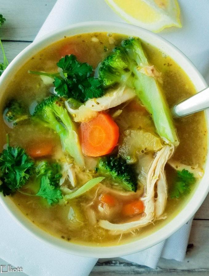 Instant Pot Chicken Soup (Gluten Free)