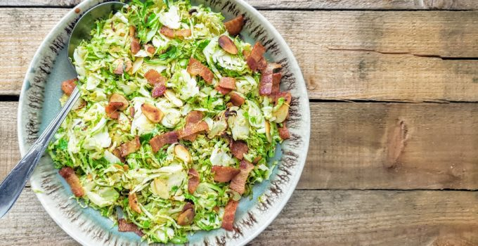 Pan Fried Shaved Brussels Sprouts