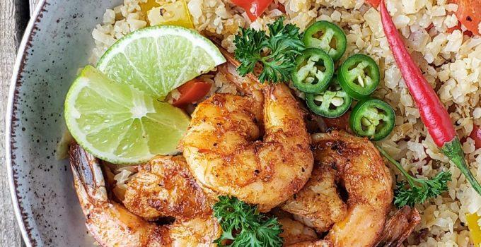 Cajun Shrimp with  Cauliflower Rice