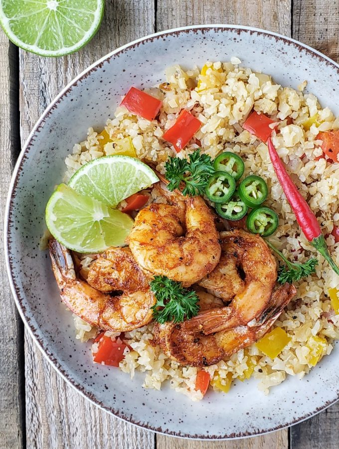 Cajun Shrimp with  Cauliflower Rice